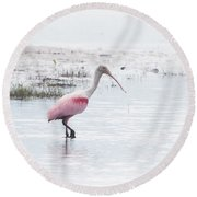 Rosy Dream Round Beach Towel