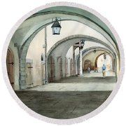 Rothenburg Backstreet Round Beach Towel