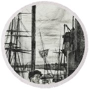 Rotherhithe Round Beach Towel