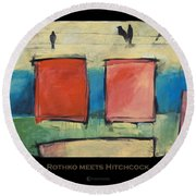Rothko Meets Hitchcock - Poster Round Beach Towel
