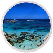 Rottnest Panorama Round Beach Towel