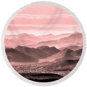 Rouge Hills Of The Tonto Round Beach Towel