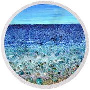 Rough Sands Round Beach Towel