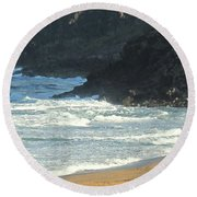Rough Shores Round Beach Towel