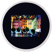 Rouin France Round Beach Towel