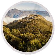 Round Mountain Lookout Round Beach Towel