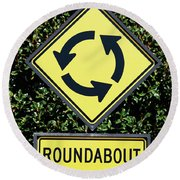 Roundabout Round Beach Towel