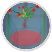Rouseau Flowers Round Beach Towel