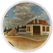 Rousseau: Factory, C1897 Round Beach Towel