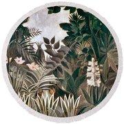 Rousseau: Jungle, 1909 Round Beach Towel