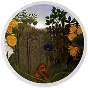 Rousseau: Lion Round Beach Towel