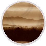 Route 120 Vermont View Round Beach Towel