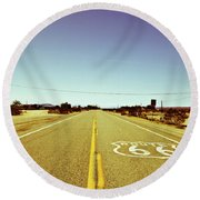 Route 66-73 Round Beach Towel