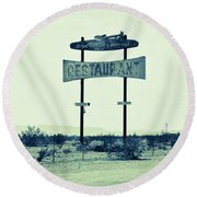 Route 66-80 Round Beach Towel
