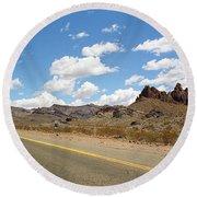 Route 66 - Arizona Round Beach Towel