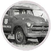 Route 66 Chevy Tumbleweed - #5 Round Beach Towel
