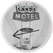 Route 66 - Grants New Mexico Round Beach Towel