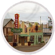 Route 66 - Kingman Arizona Round Beach Towel