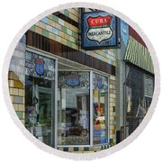 Route 66 Mercantile Cuba Mo Dsc05597 Round Beach Towel