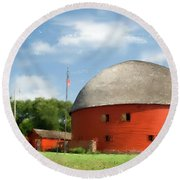 Route 66 Round Barn Round Beach Towel