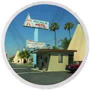 Route 66 - Wigwam Motel 3 Round Beach Towel