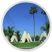 Route 66 - Wigwam Motel 4 Round Beach Towel