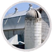 Route 81 Barn Round Beach Towel