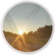 Route To Glory Round Beach Towel