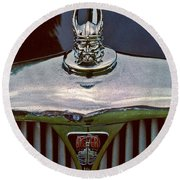 Rover Radiator And Hood Ornament Round Beach Towel