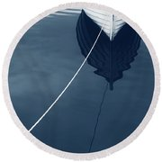 Row Row Row Your Boat Life Is But A Dream Round Beach Towel