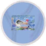 Rowboat Round Beach Towel