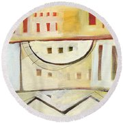 Rowhouse No. 1 Round Beach Towel