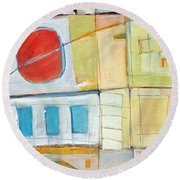 Rowhouse No. 2 Round Beach Towel
