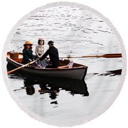 Rowing Boat Round Beach Towel