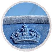 Royal Blood Round Beach Towel