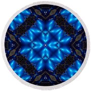 Royal Blue Round Beach Towel
