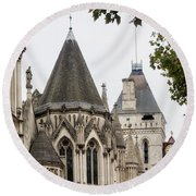 Royal Courts Of Justice Round Beach Towel