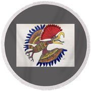 Royal Flycatcher- Mayan 2 Round Beach Towel