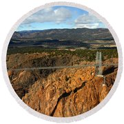 Royal Gorge Round Beach Towel
