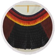 Royal Hawaiian Feather Cape Round Beach Towel