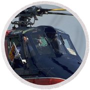 Royal Helicopter Round Beach Towel