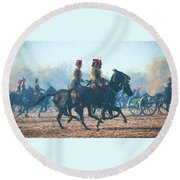 Royal Horse Artillery Painted Round Beach Towel