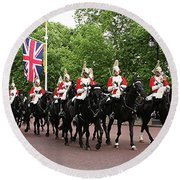 Royal Household Cavalry Round Beach Towel