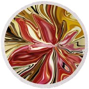 Royal Orchid Round Beach Towel
