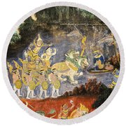 Royal Palace Ramayana 08 Round Beach Towel