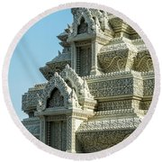 Royal Palace Shrine 01  Round Beach Towel