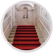 Royal Palace Staircase Round Beach Towel