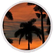 Royal Palms Round Beach Towel