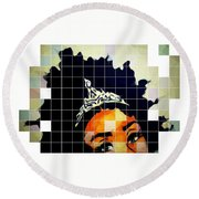 Royal Roots Round Beach Towel