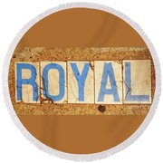 Royal Street - Nola Round Beach Towel